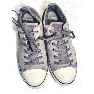 Ugg Sneakers Sz 9 Gray Shearling Women's
